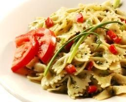 greens and tomatoes pasta
